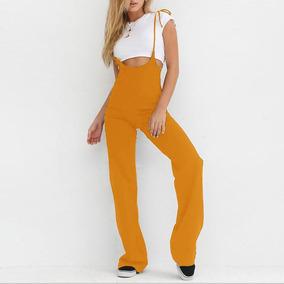 Body Largo Pantalones De Los Mamelucos Alto Cintura Campana