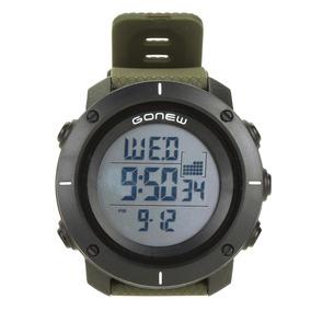 Relógio Digital Gonew Masculino - Cor Preto+verde