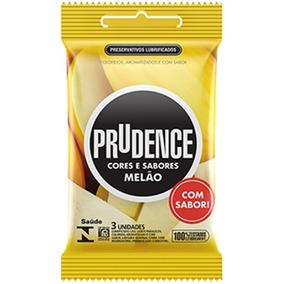 Preservativo Prudence Melão - Com 3 Camisinhas