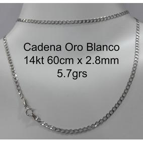 0cc3499a560a Cadena Oro Blanco 14k - Collares y Cadenas Oro en Mercado Libre México