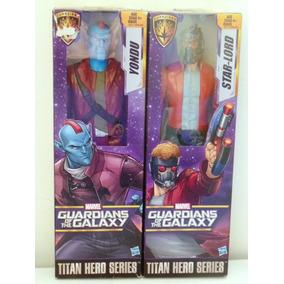 Boneco Titan Hero Series Guardiões Galáxia Star Lord E Yondu