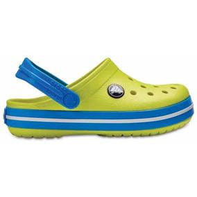Zapato Crocs Unisex Crocband Amarillo/azul