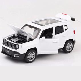 Miniatura Diecast 1:32 Jeep Renegade Branco Fricção Luzes