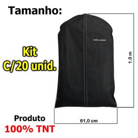 Capa Protetora P/terno, Camisas,roupas Zíper 100%tnt Kit 20