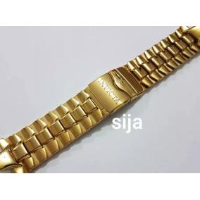 f2b326b1ef2 Pulseira Invicta 18558 23043 Dourada Em Aço Inoxidável
