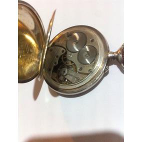 Reloj De Bolsillo De Plata Longines