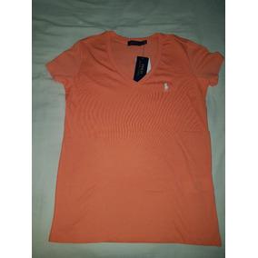 Camiseta Polo Ralph Lauren Salmão Original Gola Em V 1a2c65f589c