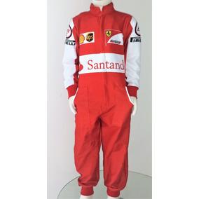 Fantasia Infantil Macacão Ferrari F1 Com Nome E Frete Grátis