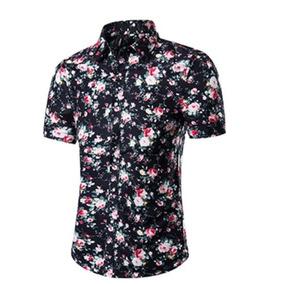 f67fcb8f3 Camisa Social Manga Curta Florida - Camisa Masculino no Mercado ...