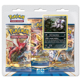 Pokémon Triple Pack Umbreon Xy Turbo Colisão