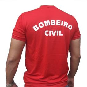 Camiseta Bombeiro Civil Vermelha