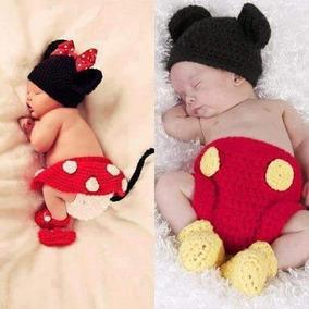 Set Minnie Mouse O Mickey Mouse Tejido Crochet