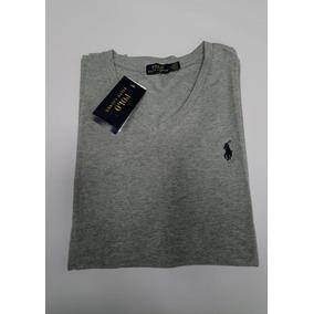 2efca87460ff1 Camiseta Cuello En V Gris Polo By Ralph Lauren Talla M - Camisetas ...