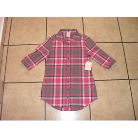 Camisa Larga Faded Glory Niña Talla M (7-8)