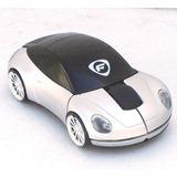 Mouse Inalámbrico Carro Diseño Vanguardista Plata