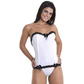 75706d901a8bd Conjunto Corselet Calcinha Shortinho Playboy - Lingerie no Mercado ...