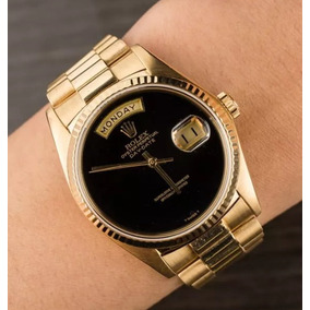 Day Date Gold Black 36mm Date Just - Presidente Automático