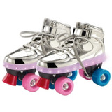 Patins Com Led 4 Rodas Prata Fun Ref. 8310