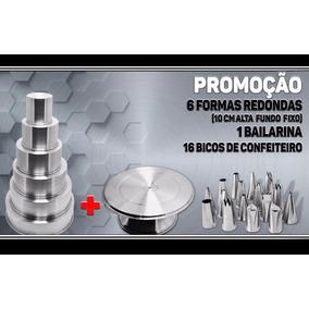 Kit 6 Forma Redonda Alta + Bailarina + Jogo De Bico 16 Peças