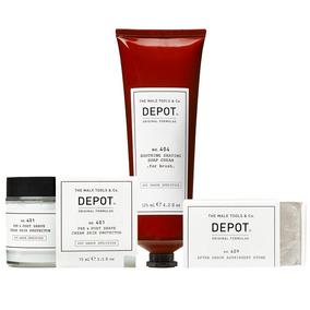 Protect Depot 401 + Crema Afeitado 404 + Piedra Astringente
