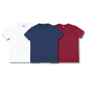 Kit C/03 Camisetas Masc Hering Super Cotton Linha Conforto
