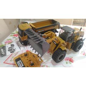 Huina 583 Carregadeira Rc + Caminhão 573 Rc 10 Canais Metal