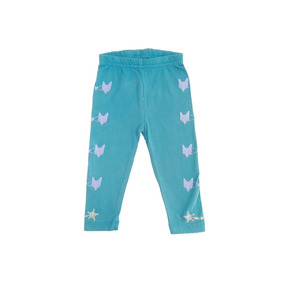 Pantalon Leggings Niña, Niño Azul Y Gris Talla 3m, 2, 4 Y 6