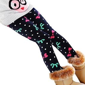 Bogiwell Kid Girl Winter Cute Warm Fleece Grueso Legging Pan