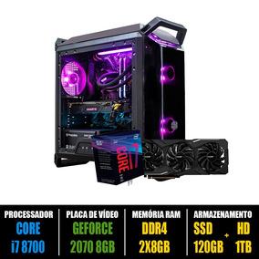 Computador Gamer Core I7 8700 + Rtx 2070 8g + 16gb Ddr4 + Nf