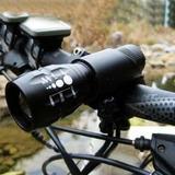 Kit Bike Suporte P Bicicleta E Lanterna Farol Led 808a
