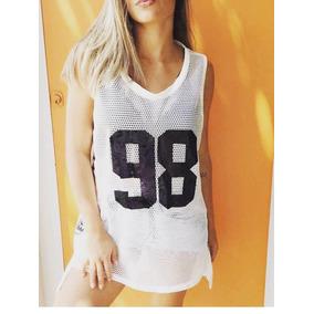 Regata Feminina Maxi Tela Arrastão 98 Camisa Camisao