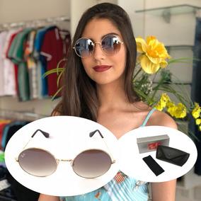 Oculos De Sol Retro Feminino Redondo Escuro - Óculos no Mercado ... 1783bffd92