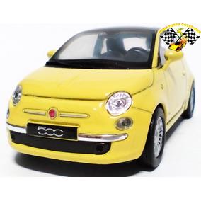 Miniatura New Fiat 500 Amarelo 1:34 Welly