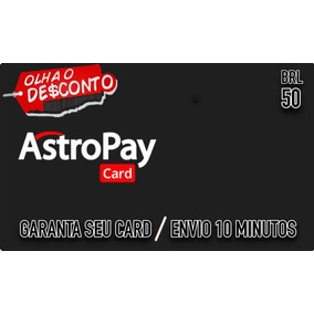 Astropay 50brl Peca Antes.card Promocao -primeira Compra-