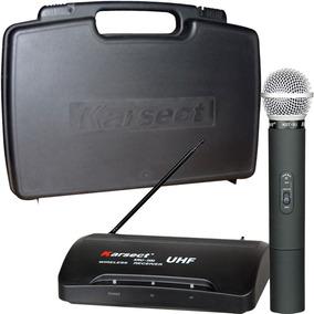 Microfone Sem Fio Karsect Kru200 Mao + Estojo - Full