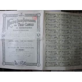 Apólice Mineração Tres- Cruzes 1901 Belgica Brasil