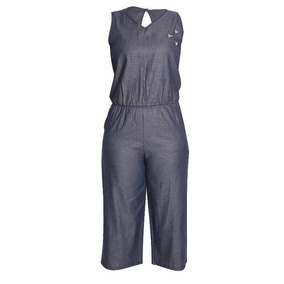 Macacão Jeans Com Detalhes