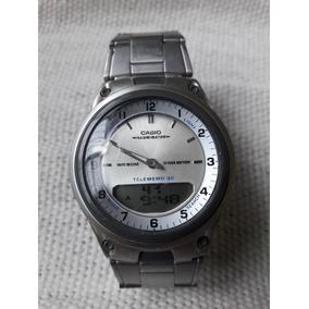 df13bbd6c0f Relógio Casio Aw-80 Telememo 30 World Time Leia A Descrição