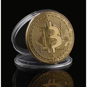Bitcoin Moeda Física Colecionador Dourada C/ Case - Rav73