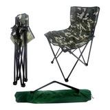 Promoção Cadeira Araguaia Dobrável Camping Pesca Camuflado