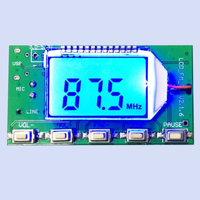 Transmissor De Áudio Fm Módulo Display Pll Conexão Com Pc