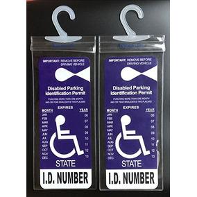 Titular Estacionamiento Para Discapacitados Cartel (2 Piezas
