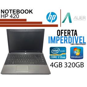 Notebook Hp 420 Core 2 Duo, 4gb, Hd 320, Nota Fiscal Barato
