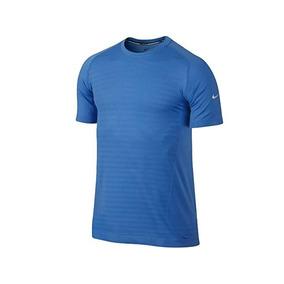 f889971a6b Camisa Nike Dri-fit Knit Novelty Crew Azul