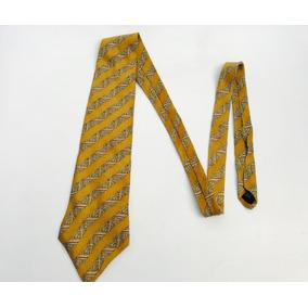 Corbata Usada Rayas Dorada Hombre Fotos Reales Buen Precio