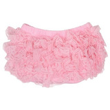 Light Pink Lace Diaper Cover Bloomer 624 Months