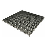 Piso Estrado Plástico Preto 50x50