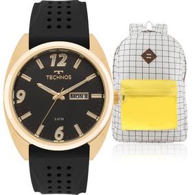 a3a2604dab6 Relógio Technos 6p29ia Preto Aço Emborrachado - Relógios De Pulso no ...