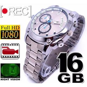 ad382da5a3c 16gb Visão Noturna Relógio De Pulso Espião 1920p Filmadora. R  4.000