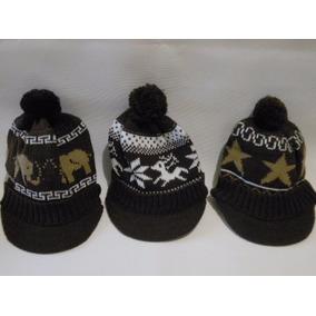 Gorro Touca Lã Infantil Proteção Frio Com Aba 2595fefc374